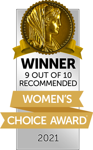Winner 9 out of 10 recommended. Women's Choice Award 2021